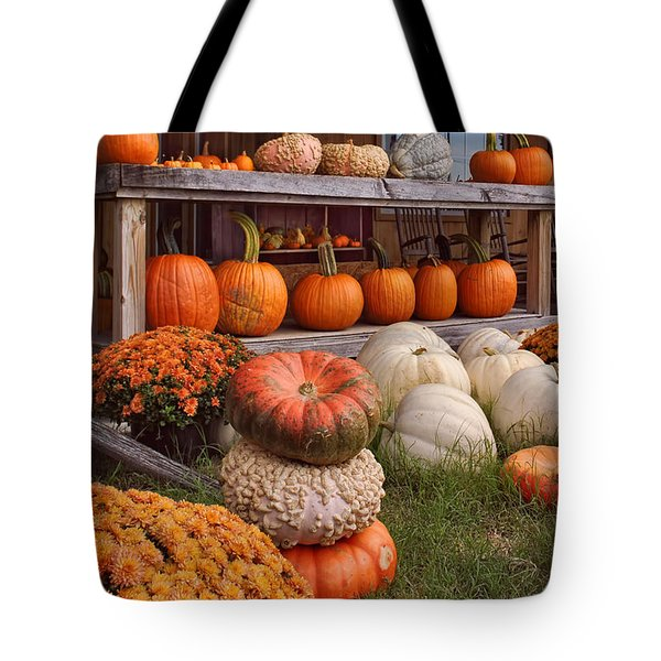 Fall Pumpkins And Gourds Tote Bag by Greg Jackson