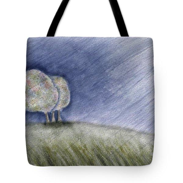 Fall Rain Tote Bag