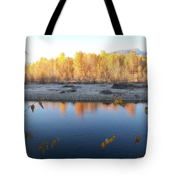 Fall Reflection 2 Tote Bag by Jewel Hengen