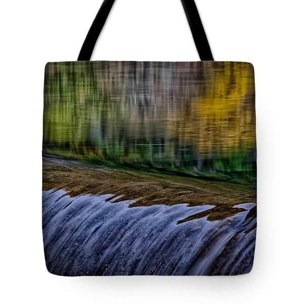 Fall Reflections At Tumwater Spillway Tote Bag