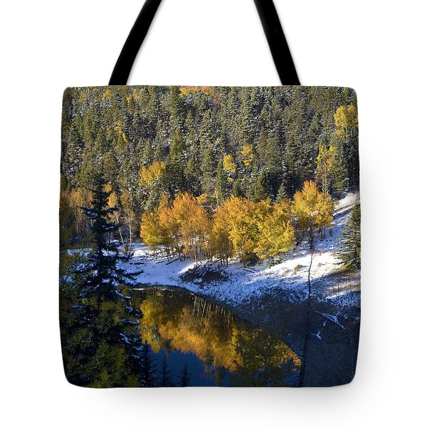 Fall Reflections On Bobcat Pass Tote Bag