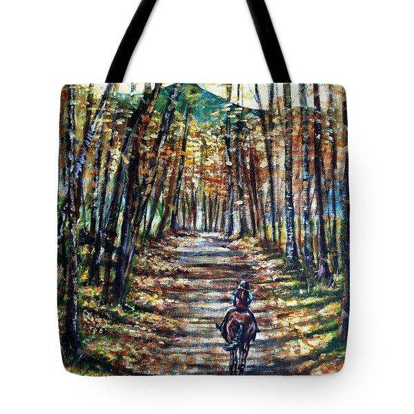 Fall Ride Tote Bag by Shana Rowe Jackson