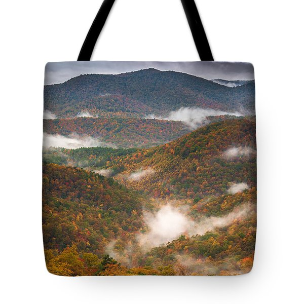 Fall Ridges Tote Bag