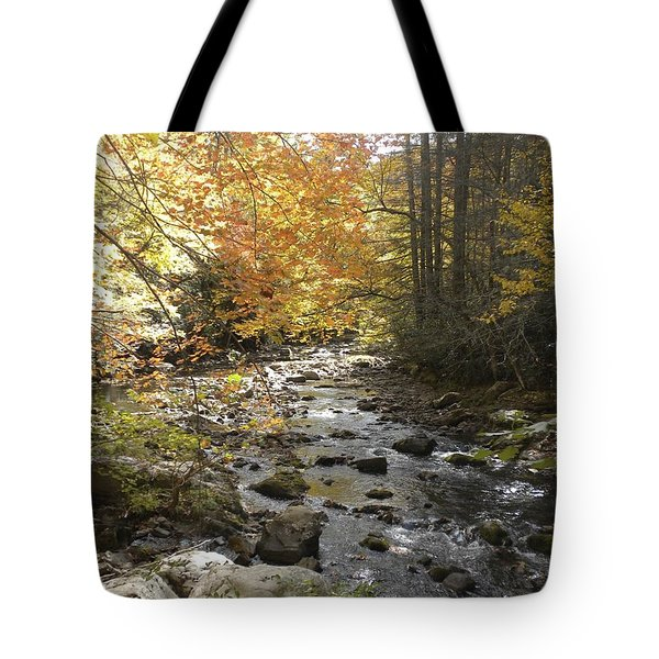 Fall River Scene Damascus Va Tote Bag