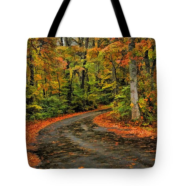 Tote Bag featuring the photograph Fall Road To Glory by Kenny Francis