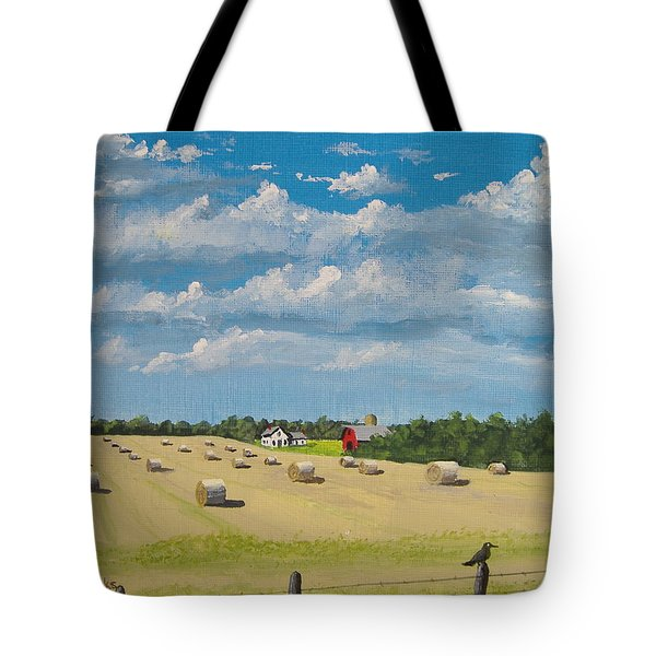 Tote Bag featuring the painting Fall Rounds by Norm Starks