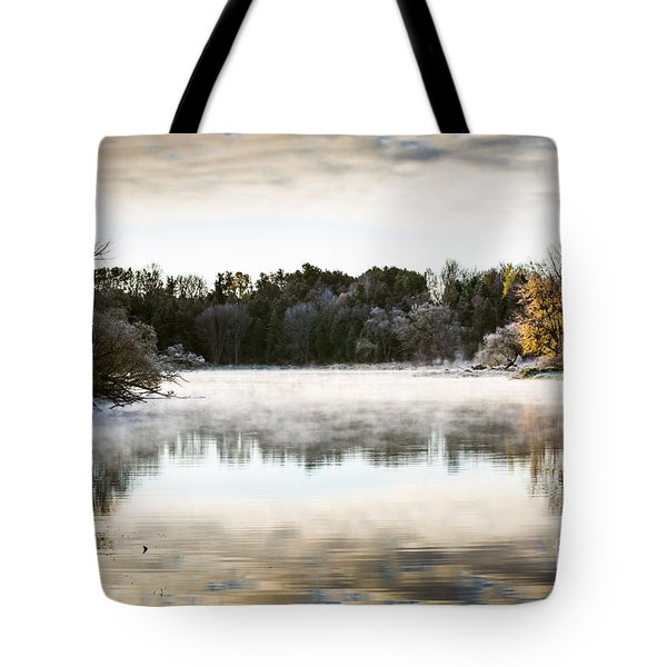 Fall Scene On The Mississippi Tote Bag