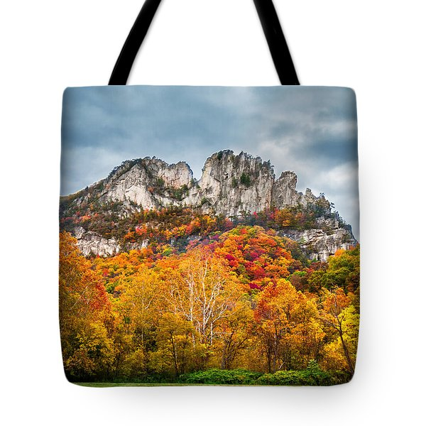 Fall Storm Seneca Rocks Tote Bag