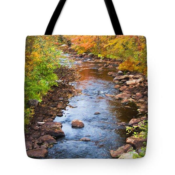 Fall Stream Tote Bag