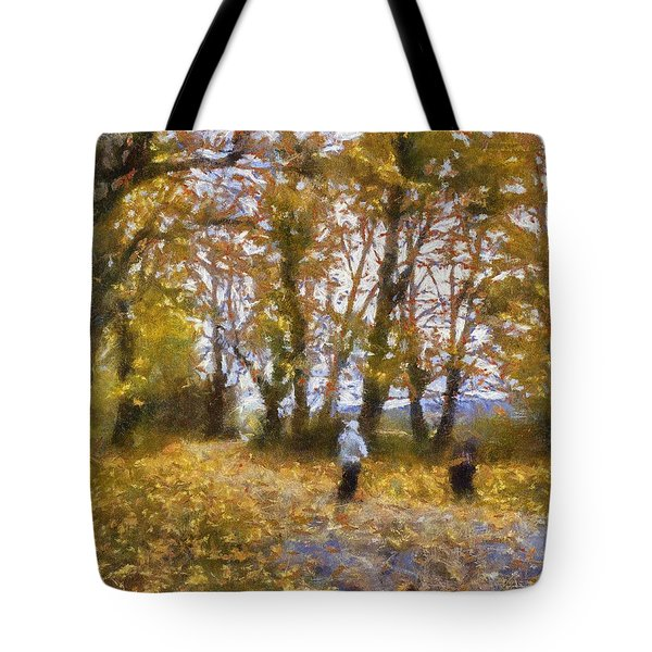 Fall Stroll Tote Bag by Barry Jones