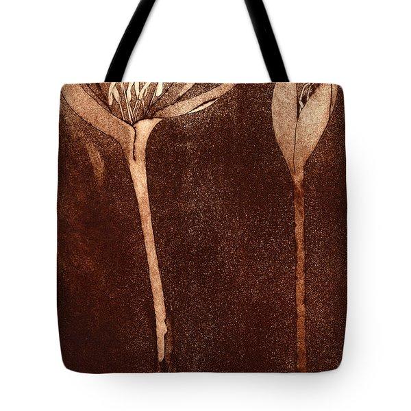 Fall Time - Autumn Crocus Meadow Safran Tote Bag