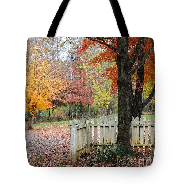 Fall Tranquility Tote Bag by Debbie Green