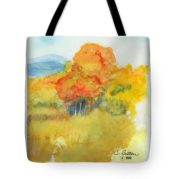 Fall Trees 2 Tote Bag by C Sitton