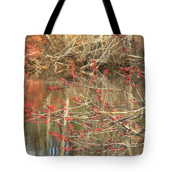 Fall Upon The Water Tote Bag by Bruce Carpenter