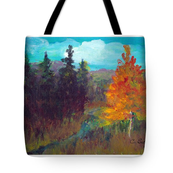 Fall View Tote Bag by C Sitton