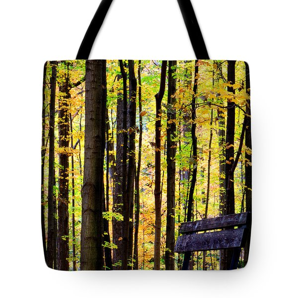Fall Woods In Michigan Tote Bag