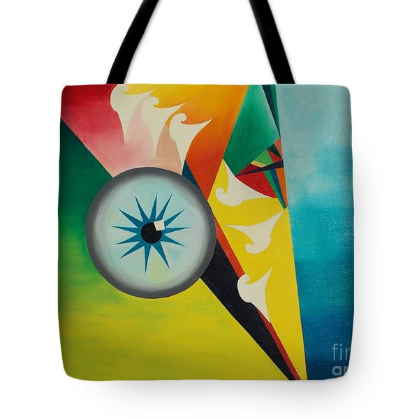 Tote Bag featuring the painting Fallen From Grace by PainterArtist FIN