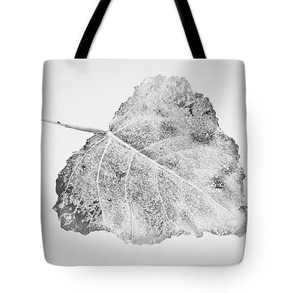 Tote Bag featuring the photograph Fallen Leaf In Bw by Greg Jackson