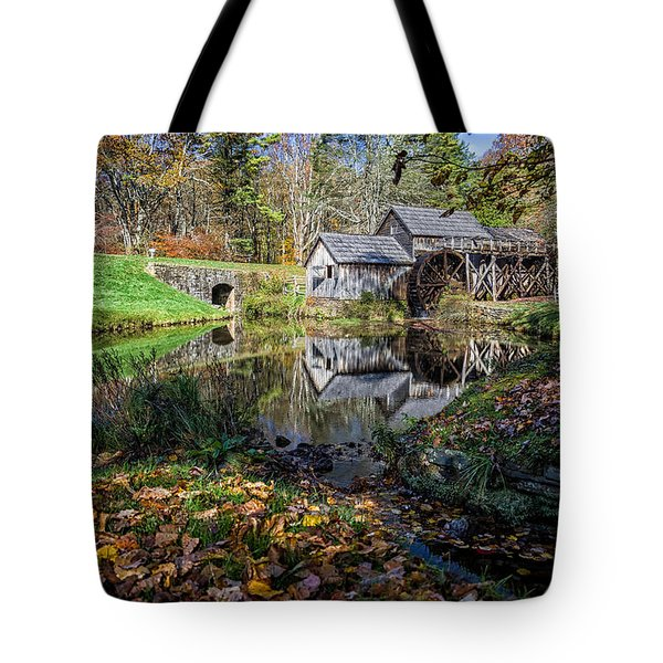 Fallen Leaves At Mabry Mill Tote Bag
