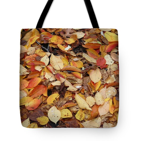 Tote Bag featuring the photograph Fallen Leaves by Dora Sofia Caputo Photographic Art and Design