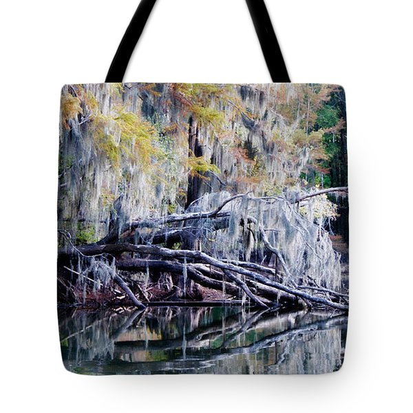 Tote Bag featuring the photograph Fallen Reflection by Lana Trussell