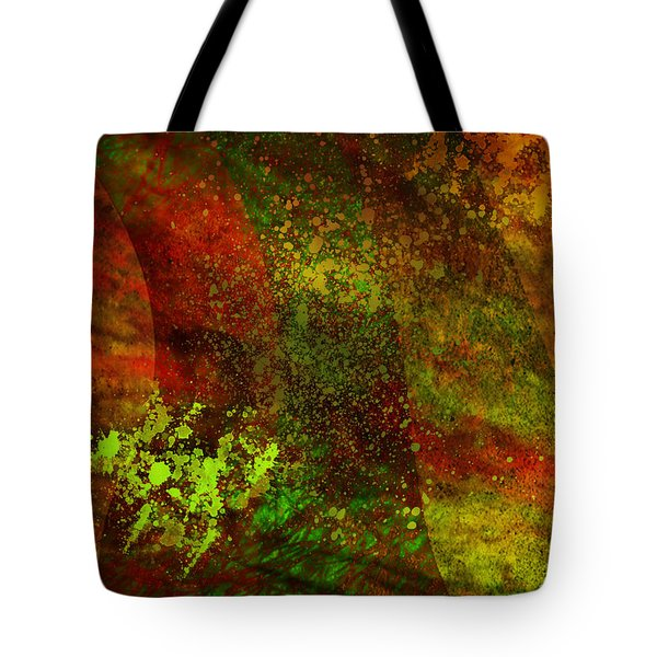 Tote Bag featuring the mixed media Fallen Seasons by Ally  White