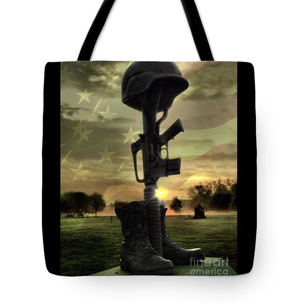 Fallen Soldiers Memorial Tote Bag