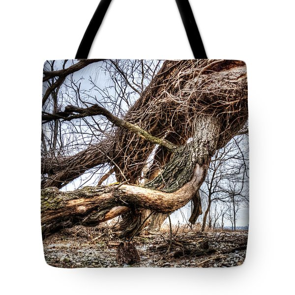 Fallen Twisted Giant Tote Bag