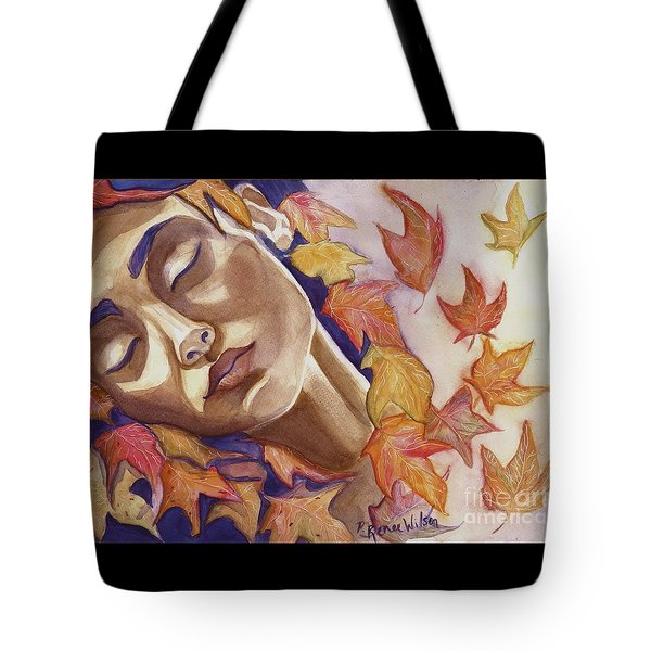 Tote Bag featuring the painting Falling by D Renee Wilson