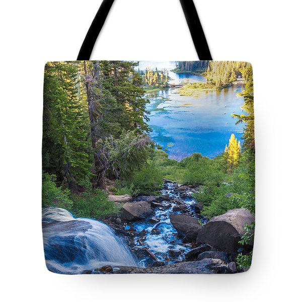 Falling Down To The Lakes Tote Bag