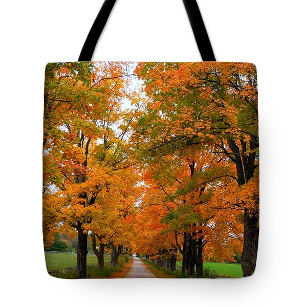 Falling For Country Farm Tote Bag by Lingfai Leung