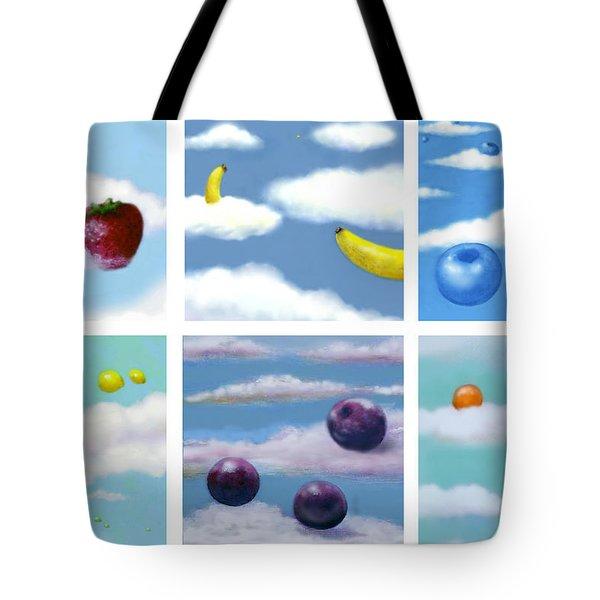 Falling Fruit Group Tote Bag
