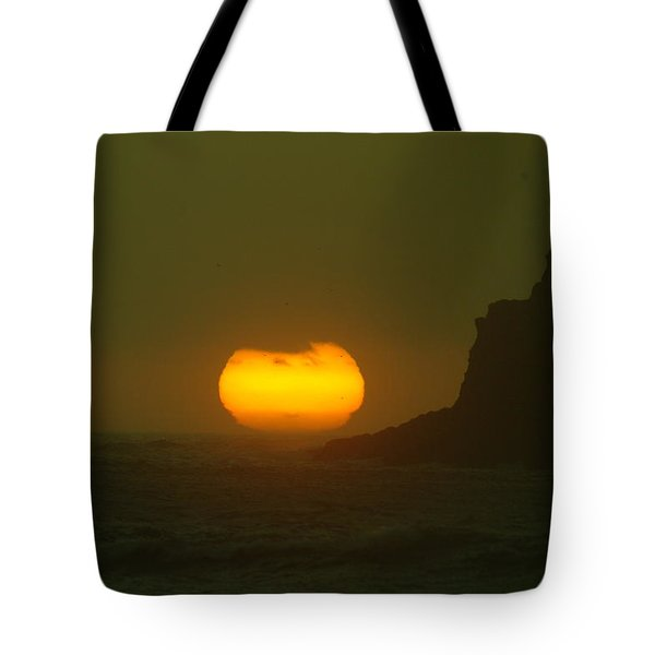 Falling Into The Waves Tote Bag by Jeff Swan
