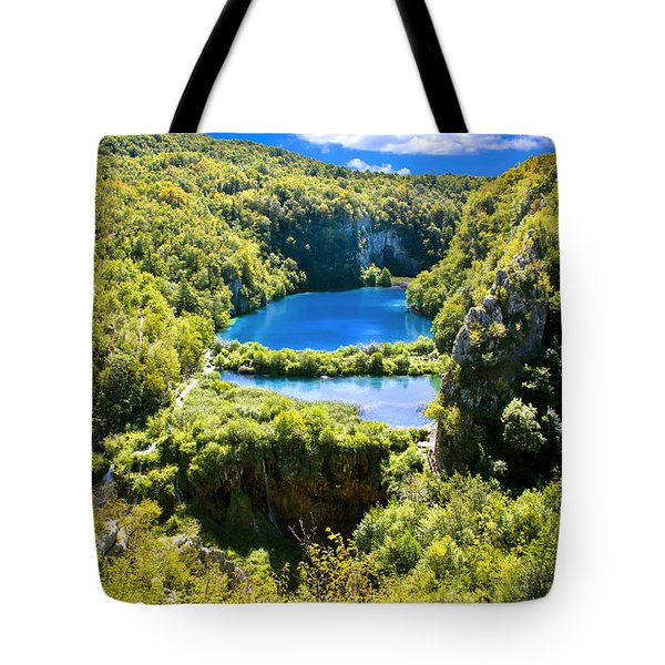 Falling Lakes Of Plitvice National Park Tote Bag