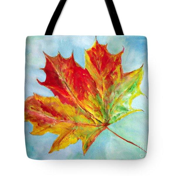 Falling Leaf - Painting Tote Bag