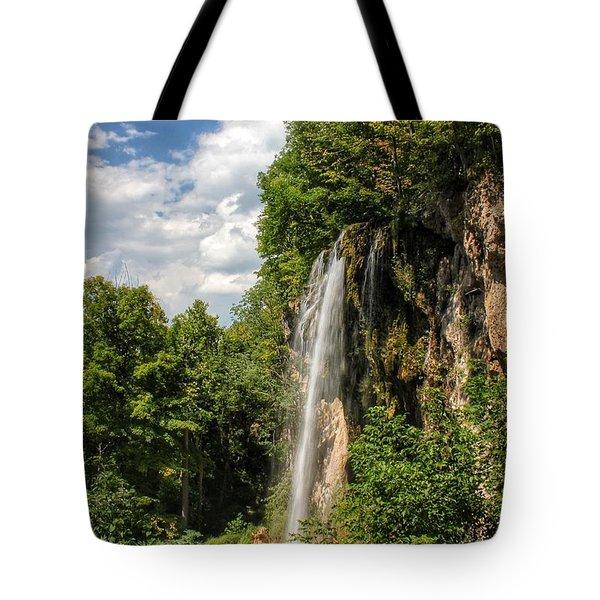 Falling Springs Falls Tote Bag