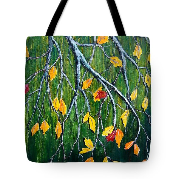 Tote Bag featuring the painting Falling by Suzanne Theis