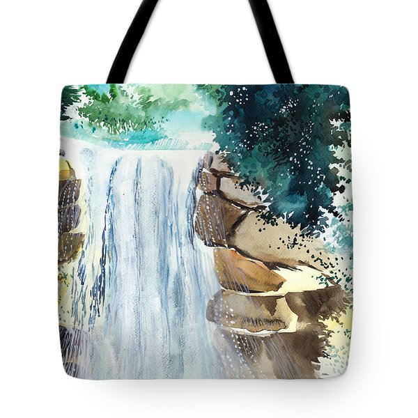 Falling Waters Tote Bag by Anil Nene