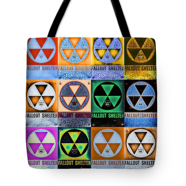 Fallout Shelter Mosaic Tote Bag by Stephen Stookey
