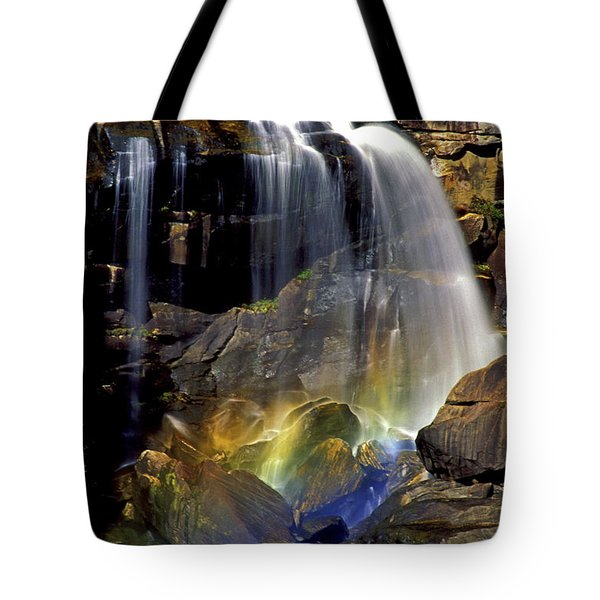 Falls And Rainbow Tote Bag by Paul W Faust -  Impressions of Light
