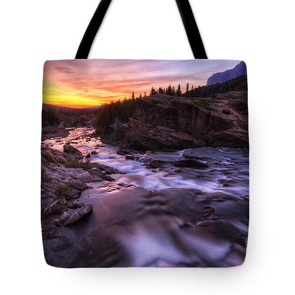 Falls At First Light Tote Bag