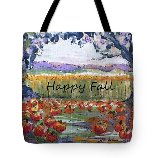 Happy Fall Greeting Card  Tote Bag