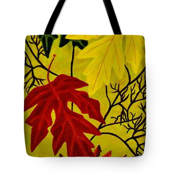 Tote Bag featuring the painting Fall's Gift Of Color by Celeste Manning
