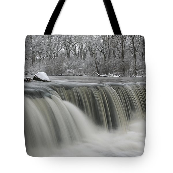 Falls In Winter Tote Bag