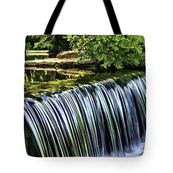 Tote Bag featuring the painting Falls by Muhie Kanawati