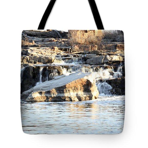 Falls Park Waterfalls Tote Bag by Lori Tordsen