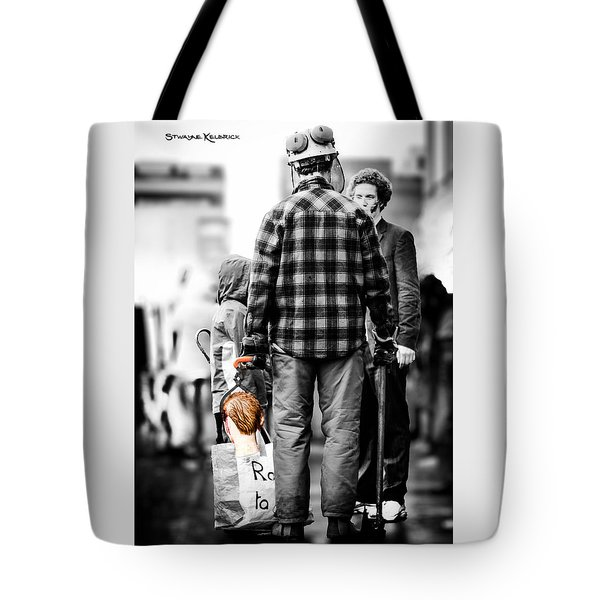False Cutted Throat Tote Bag