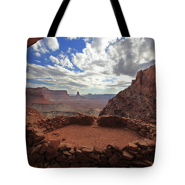 Tote Bag featuring the photograph False Kiva by Alan Vance Ley