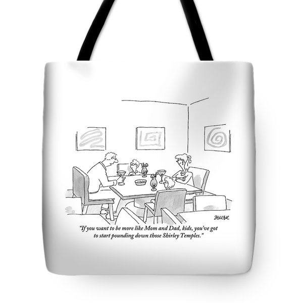 Family Around Table Tote Bag
