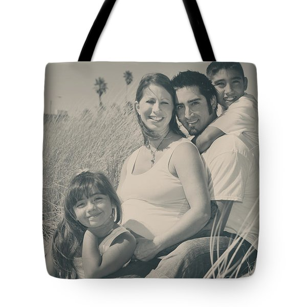 Family Beach Day Tote Bag